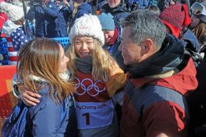 Chloe Kim and parents