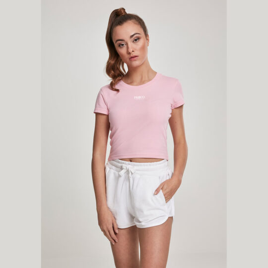 PROUD.ROOTS SHORT TOP PINK WHITE LOGO