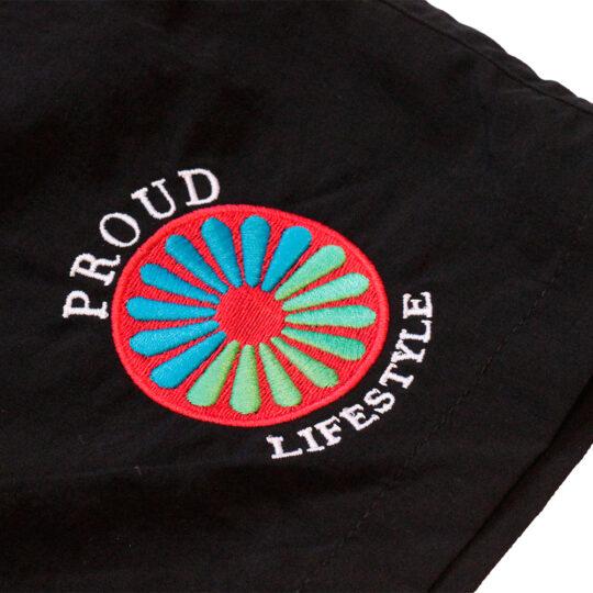proud.traveler swimshorts embroided